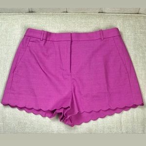 🌷NWT Flamingo Colored Scallop Trimmed Short